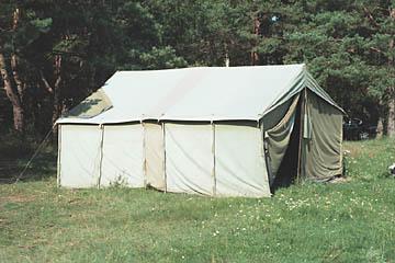 Namiot na okoliczność deszczu