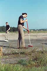 Sprzątanie toru w toku