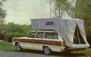 Ford Country Squire with Roof-top Camper Tent - 1965